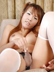 Ladyboy Somoo - Busty Pigtail Dickgirl